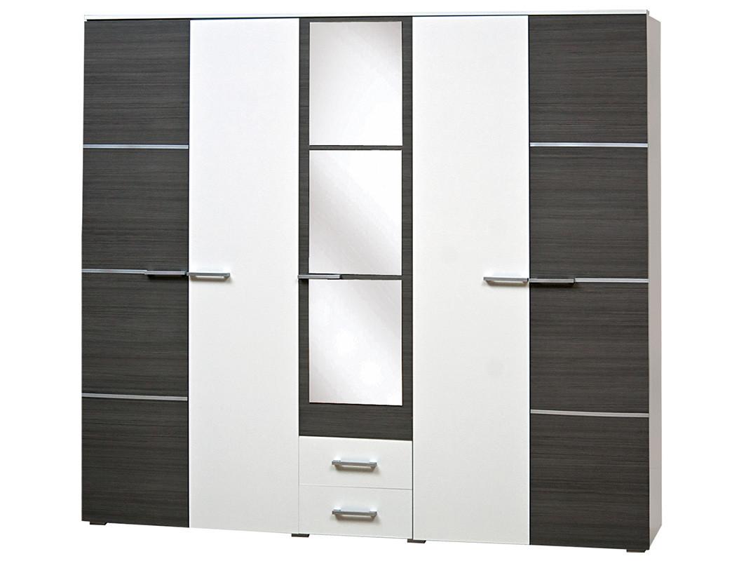 Шкаф 5Д Круиз Белый/Дакар (Світ Меблів TM)