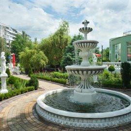 Садовый фонтан камень купить