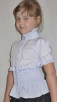 """Блузка для девочки """"резиночка-короткий рукав"""""""