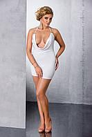 Эротическое белое платье Passion Size Plus MIRACLE CHEMISE белое, 4XL\5XL