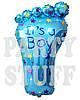 Фольгированный шарик Стопа голубой, 79 см