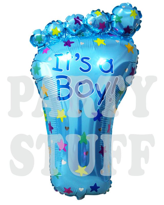 голубой шары фольга стопа для новорожденного