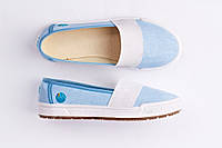 Мокасины женские голубые Литма Erica