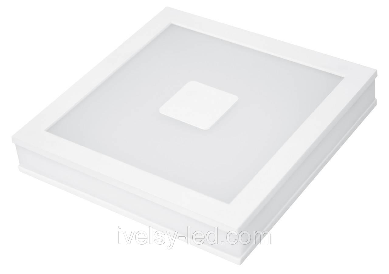 LED Світильник EUROLAMP квадратний накладний Світильник 24W 4000K (з врізним типом монтажу)