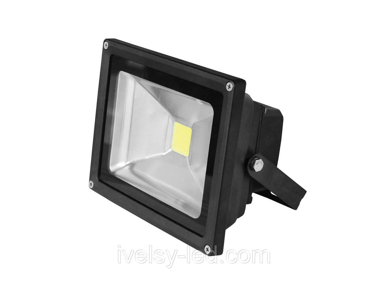 Прожектор LED EUROELECTRIC COB чорний 10W 6500K classic