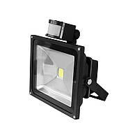 LED Прожектор EUROELECTRIC COB с датчиком движения 30W 6500K