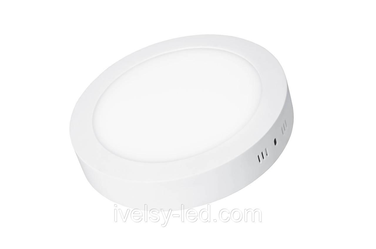 LED Светильник EUROLAMP круглый накладной Downlight 12W 4000K