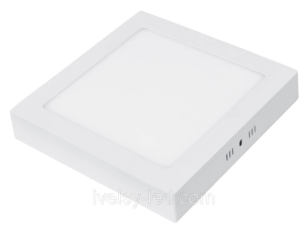 LED Светильник EUROLAMP квадратный накладной Downlight 12W 4000K