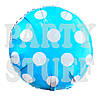 Фольгированный шар Полька светло-голубой, 44 см