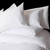 Семейное постельное белье белое 160х220х2 LOTUS ОТЕЛЬ сатин