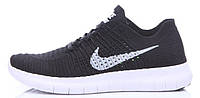 Мужские кроссовки Nike Free Run Flyknit (найк фри ран флайнит) черные