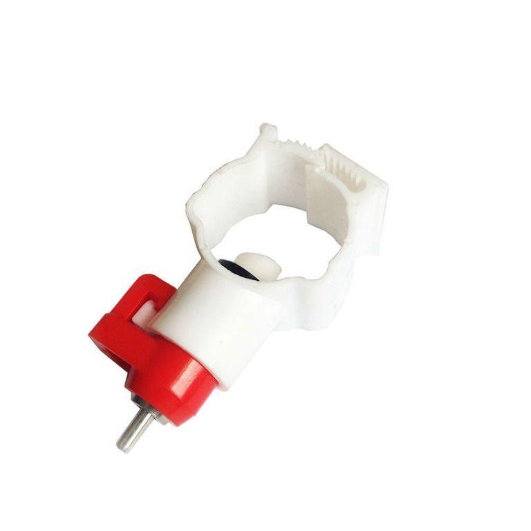 Ниппельная поилка с креплением на круглую трубу 20мм (360 градусов)