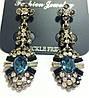 Серьги висюльки, Синий кристалл, фото 2