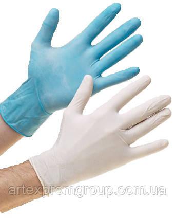 Перчатки нитриловые текстурированые (тонкие, прочные) р. M, L