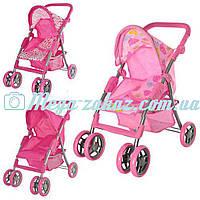 Детская прогулочная коляска для кукол железная Melogo 9352: 3 цвета, корзина для игрушек