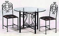 Столик и стулья кованый