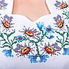 Вышитое платье в украинском стиле Полевые цветы белого цвета , фото 7