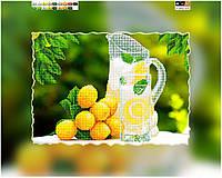 """Схема для вышивки бисером на подрамнике (холст) """"Освежающий лимонад"""""""