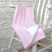 """Розовый плед-покрывало с натуральной подкладкой  """"Девиль"""""""