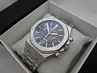 Мужские часы Audemars Piguet - Royal Oak стальной корпус, черный циферблат, класс ААА