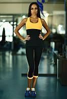 Designed For Fitness. Спортивный костюм Basic Orange Low Rise Capri, фото 1