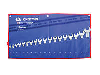 Набор ключей рожково-накидных 18 ед 6-24мм  чехол из теторона KINGTONY 1218MRN