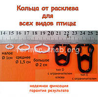 Стопорне кільце від розкльову (канибализма) для перепелів, курапаток і фазанів (мале) 1 см