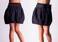 Школьная юбка для девочек синяя и черная