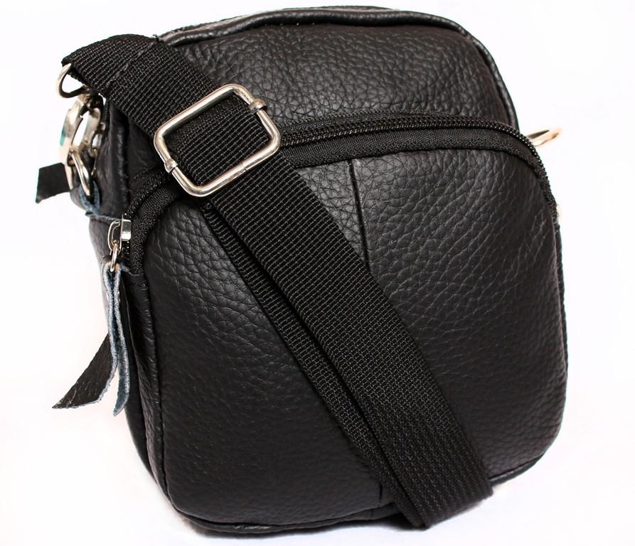 Мужская кожаная сумка 300158 черная