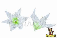 Цветы Лилии Белые из ткани 17 см 1 шт