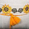 Вышитое украинское платье лен Подсолнухи, фото 6