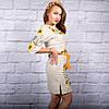 Вышитое украинское платье лен Подсолнухи, фото 2