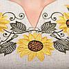 Вышитое украинское платье лен Подсолнухи, фото 5
