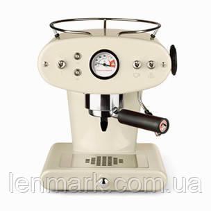 Домашняя кофеварка illy X1 MACINATO MANDORLA/ кофемашина цвет слоновой кости