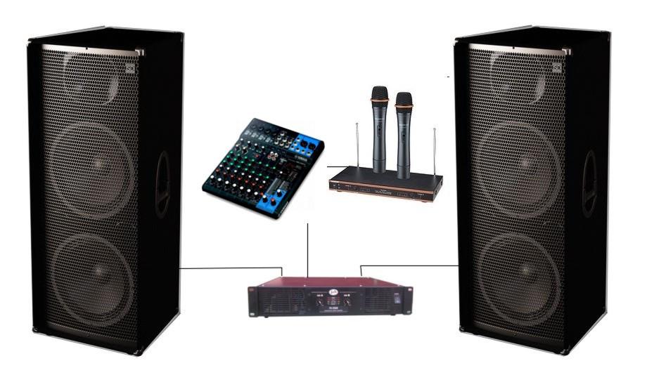 Комплект Sound Division DJ215KAR82 звуковое оборудование для караоке клуба, мощность 2000Вт - DiscoShop в Харькове