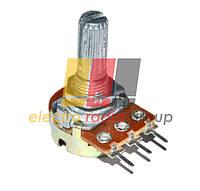 Резистор переменный WH148-1B-2 B  10кОм 6 pin прямой