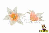Цветы Лилии Персиковые из ткани 17 см 1 шт