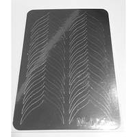 Металлизированные наклейки Canni M-001 серебро (для фигурного френча )