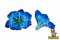 Цветы Лилии Синие из ткани 14 см 1 шт