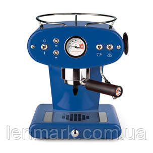 Домашняя кофеварка illy X1 MACINATO BLU / кофемашина цвет синий
