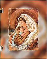 """Схема для вышивки бисером на подрамнике (холст) """"Мамина любовь и нежность"""" (золото)"""