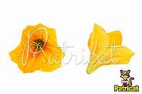 Цветы Лилии Желтые из ткани 14 см 1 шт