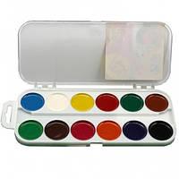 Краски акварель медовые ГАММА Увлечение 312046, 12 цветов, б/кист.
