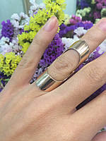 Золотое кольцо на две фаланги, на всю фалангу без камней