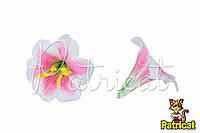 Цветы Лилии Розово-белые из ткани 9 см 1 шт