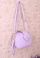 Клатч-сумочка кожзам сиреневый цвет
