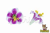 Цветы Лилии Лаванда из ткани 9 см 1 шт