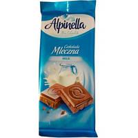 Шоколад молочный Alpinella Czekolada Mleczna. 90г.