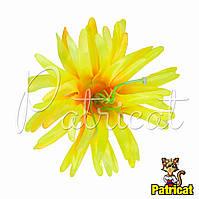 Цветы Астра Желтая из ткани 11 см 1 шт