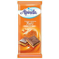 Шоколад молочный Alpinella Toffee. 100г. Польша.